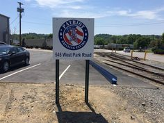Check out this #aluminum post and panel #sign we made for Patriot Drilling. #Pittsburgh #MrSign