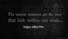"""Edgar Allen Poe quote from the Raven: """"I became insane, with long intervals of horrible sanity."""" Description from pinterest.com. I searched for this on bing.com/images"""