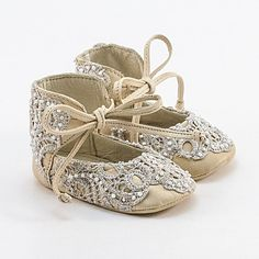 Leather baby booties covered with lace omg I just couldn't resist...soooo cute !!!!