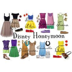 Briar Rose (Aurora), Snow White, Rapunzel, Tiana, Ariel, Pocahontas, Cinderella, Belle