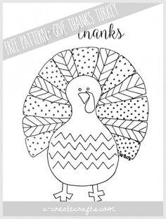 Free Pattern: Fall Turkey by U Create Turkey Coloring Pages, Free Coloring Pages, Fall Crafts, Holiday Crafts, Holiday Fun, Holiday Ideas, Christmas Ideas, Patterning Kindergarten, Thanksgiving Poems