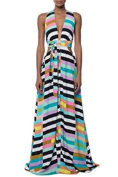 Latina's Best Flowing Maxi Dresses Perfect for All Shapes and Sizes: Cut-outs; Mara Hoffman Wrap Maxi Dress