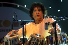 One of the best percussionists ever- 'Ustad' Zakir Hussain, India.