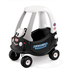 Little Tikes Cozy Coupe. The Cozy Coupe from Little Tikes is designed just for your little one. High seat back with storage in the rear. Suitable for ages years to 5 years. Little Tikes, Fun Police, Police Cars, Police Officer, Kids Police Car, Car Cop, Police Family, Police Wife, Toddler Toys