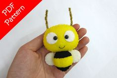 Bee Plush PDF Pattern Instant Digital Download por araleling
