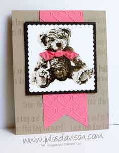 Baby Bear Flirty Flamingo Pink Card by juls716 - Cards and Paper Crafts at Splitcoaststampers
