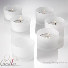 Set of 12 frosted tealight candle holders