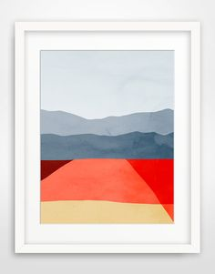 Large Abstract Wall Art Print Minimalist Art Abstract by evesand