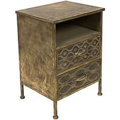 Extend an unmissable style to your bedroom aesthetic with the Filigree Bedside Table from Casa Uno.