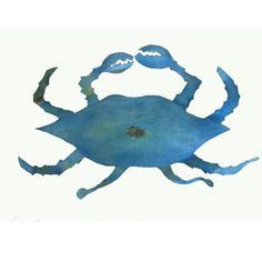 "From the Chase Allen limited edition collection, iron crab sculptures make perfect gifts for those with a flare for coastal decorating or who simply need a reason to enjoy the simple life. Cold-forged, torch cut and wire welded with an antique painted finish, these classic iron works of art  are unique and beautiful.   Please allow 2-4 weeks for delivery.   The small measures 24"" X 12"".  The medium measures 29"" X 16"" and is $224.95. The large measures 36"" X 22"" and is $394.95.  The extra…"