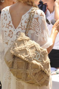 lace and chenille...love this...must   make something out of antique store find chenille