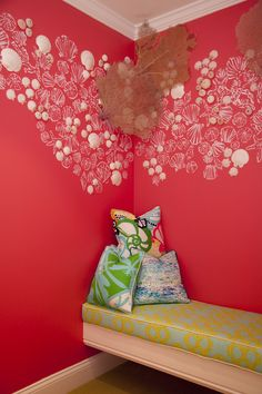 """Phipps Plaza - Atlanta, GA Retail Store - The """"Resort Chic"""" dressing room...seashells, sea fans, you & two girlfriends! (it's a big one!)  Join us for our Grand Opening at Phipps Plaza on June 9th and 10th!"""
