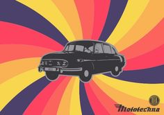 Retro Background like this(Instead of this car we can write quotes, notes etc in a bubbles or circles)