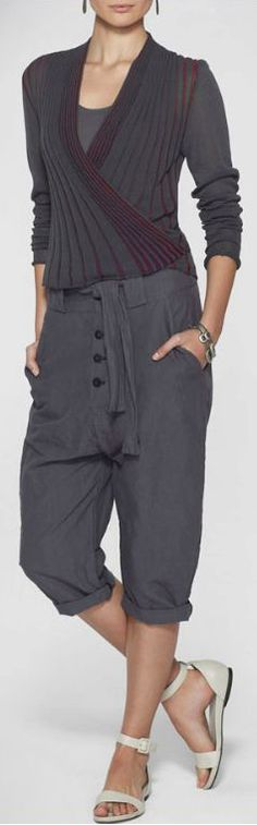 Sarah Pacini,   I love the top, would like the pants if the crotch was not made that low and the bottom of the pants were longer.