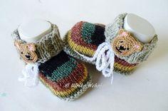 Strick- & Häkelschuhe - Babyschuhe Babystiefel Bät - ein Designerstück von strickliene bei DaWanda