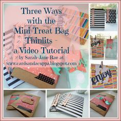 Stampin' Up UK Demonstrator Sarah-Jane Rae Cards and a Cuppa blog: Three Ways with Mini Treat Bag Thinlits by Stampin' Up! Video Tutorial