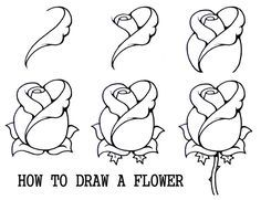 how to draw a rose - Google Search