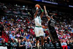 The #Celtics knocked off the #Heat in Miami on April 11, 2012 at AmericanAirlines Arena, 115-107. #iamaceltic my fave shot of the game!