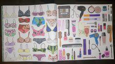 Colouring Paris Secreto Doble pagina Ropa interior y cosmetica No sé qué pinta aquí Zoe de las Cases