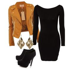 LBD with leather jacket is to die for. Plus sleeves for fall so tots works.