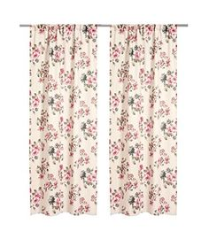"""French Country Floral Print Cotton Drapes Pair of Curtains 2 Panels 47x98 """" Light Beige-Pink Curtain Panels http://www.amazon.com/dp/B00NY48REA/ref=cm_sw_r_pi_dp_uzZ7ub0ZHJ1AA"""