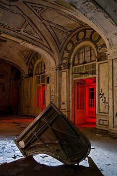 """Ballroom, Lee Plaza Hotel  """"The Ruins of Detroit"""" book, published by Steidl - Introductions by Robert Polidori and Thomas Sugrue"""