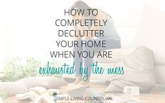 Decluttering your home can be a daunting task, but if you do it one day at a time you will see progress before you know it! See super easy and productive tips!