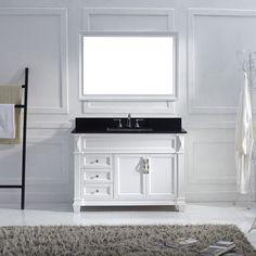 Virtu USA - MS-2648-BGSQ-WH-001 - Victoria 48 in. Bathroom Vanity Set front view