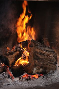 The sound of a crackling fire and the smell of burning wood on a chilly fall night...heaven!