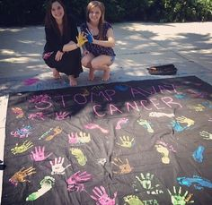 """Beta Psi Chapter (Stetson University) worked to """"stomp out cancer"""" at its recent philanthropy event. This is a great way to get students involved in spreading awareness!"""