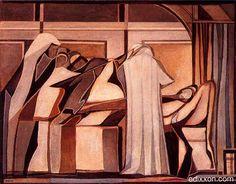 "Mario Radice - Opere - ""Morte di Giacobbe"", 1949, olio su tela, cm 80 x 1..."