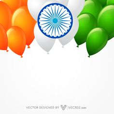 Indian Flag Made with Balloons Free Vector | 123Freevectors