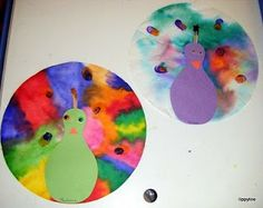 Tippytoe Crafts: Peacocks: use an uppercase P for the body for letter of the week activity