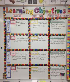 examples of lesson goal on the board - Google Search