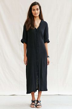 Mixed Business Vintage Crinkle Maxi Dress - Urban Outfitters