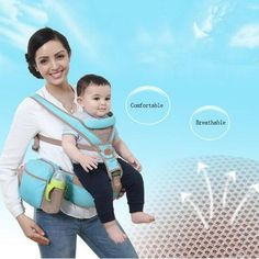 Breathable Four Positions Baby Carrier With Bottle Bag  Rs. $87