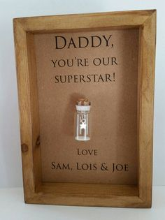 Daddy Dad Father Superstar Birthday Gifts Ideas Can Be Personalised With Names Or Your Own Message
