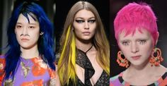 2017 Fall / 2018 Winter Hairstyles - Part 1: Acid Colors - On The Runway