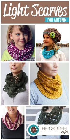 Light Crochet Scarves for Autumn