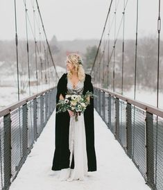 Gorgeous winter wedding inspiration! | Truvelle Bridal dress