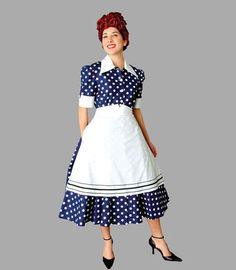 deluxe lucille ball i love lucy costume 50s housewife ricky ricardo tv show - I Love Lucy Halloween Costumes