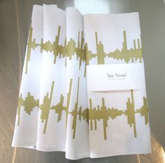 Life's Soundtrack Sound Wave tea towels - sound wave of slurping coffee Sound Waves, Tea Towels, Soundtrack, Coffee, Creative, Handmade, Etsy, Life, Kaffee