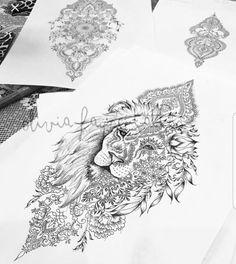 Mandala Lion Women 's Tattoo Strong Independent - Tattoo Ideas Tattoo Drawings, Body Art Tattoos, Sleeve Tattoos, Woman Tattoos, Tatoos, Female Tattoo Sleeve, Feather Tattoos, Trendy Tattoos, Tattoos For Women