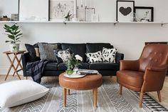 Picture ledge above couch Living Room Designs, Living Room Decor, Living Spaces, Living Rooms, Billy Regal, Interior Design Trends, Design Ideas, Ikea Kallax Regal, Above Couch
