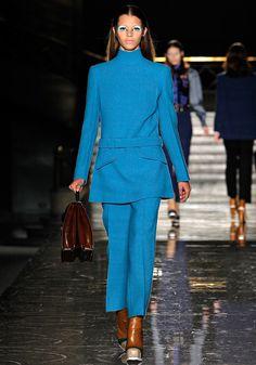 Miu Miu Fall 2012 bright blue tunic and pant
