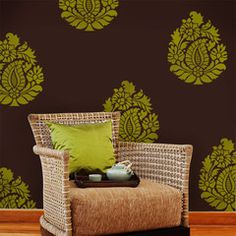 Invoking the regal femininity the paisley portrays, our Rani Paisley Indian Wall Art Stencil has been given a royal look through layers of beautiful floral pattern surrounding a lovely paisley motif i