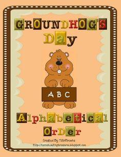 Free Groundhog's Day Alphabetical Order Literacy Center!