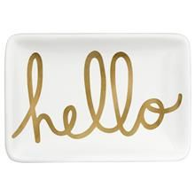 Decorative Ceramic Hello Plate
