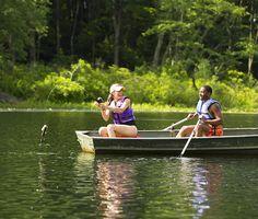 Fishing in the Pocono Mountains at Pocono Palace Resort! #PoconoMtns