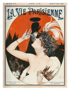La Vie Parisienne 1922 France Drawing by The Advertising Archives Art Deco Illustration, Illustrations, Magazine Illustration, Vintage French Posters, Vintage Art Prints, Cover Art, France Drawing, Art Français, Retro Poster